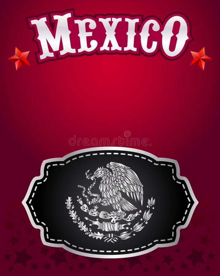 Projeto mexicano do vetor da fivela de cinto do vaqueiro ilustração do vetor