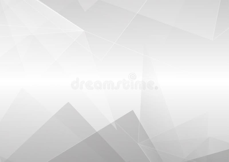 Projeto moderno abstrato do fundo da cor branca e cinzenta Vetor ilustração stock