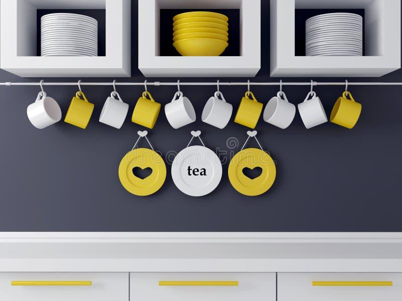 Projeto moderno da cozinha ilustração stock
