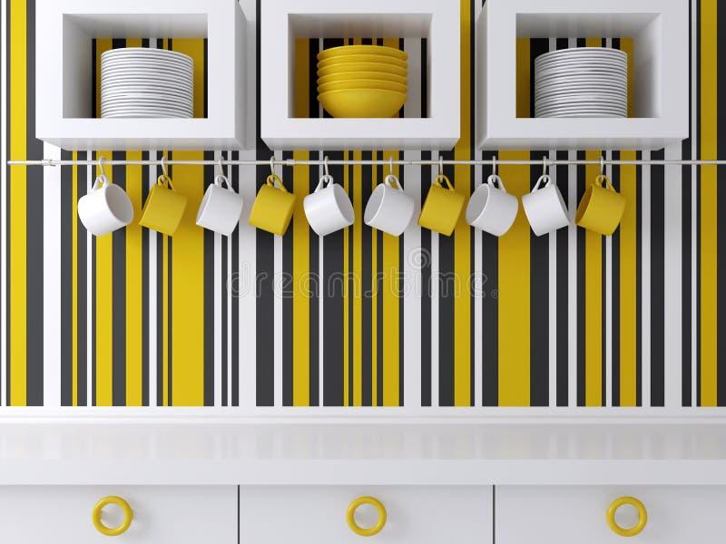 Projeto moderno da cozinha ilustração royalty free