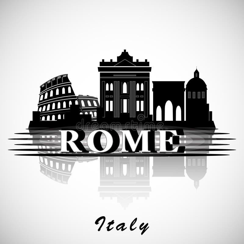 Projeto moderno da skyline da cidade de Roma Italy ilustração royalty free