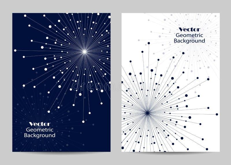 Projeto moderno da tampa do folheto ilustração royalty free