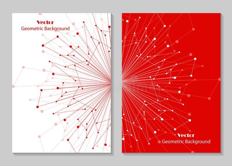 Projeto moderno da tampa do folheto ilustração do vetor
