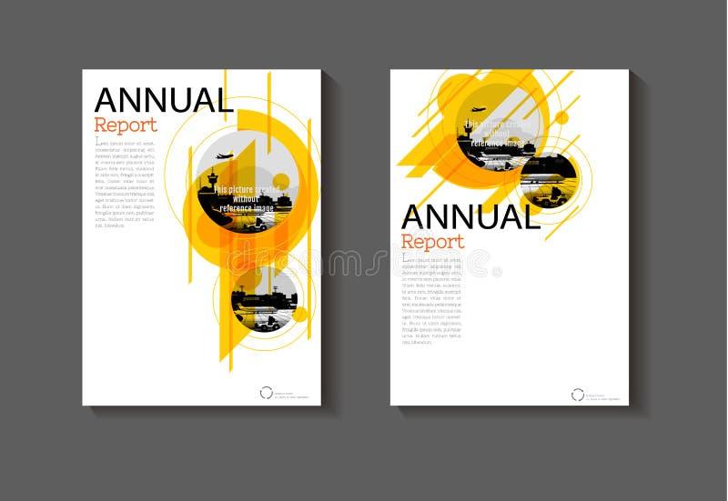 Projeto moderno da tampa do fundo abstrato amarelo da disposição ilustração royalty free