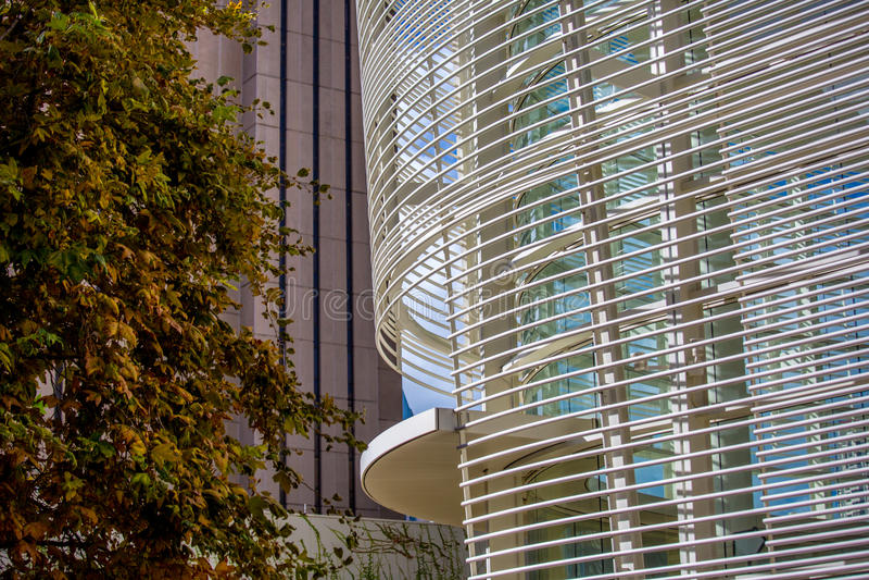 Projeto moderno do edifício imagem de stock