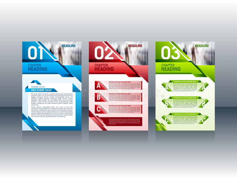 Projeto moderno do folheto, moldes da disposição do folheto do inseto Ilustração do vetor ilustração do vetor