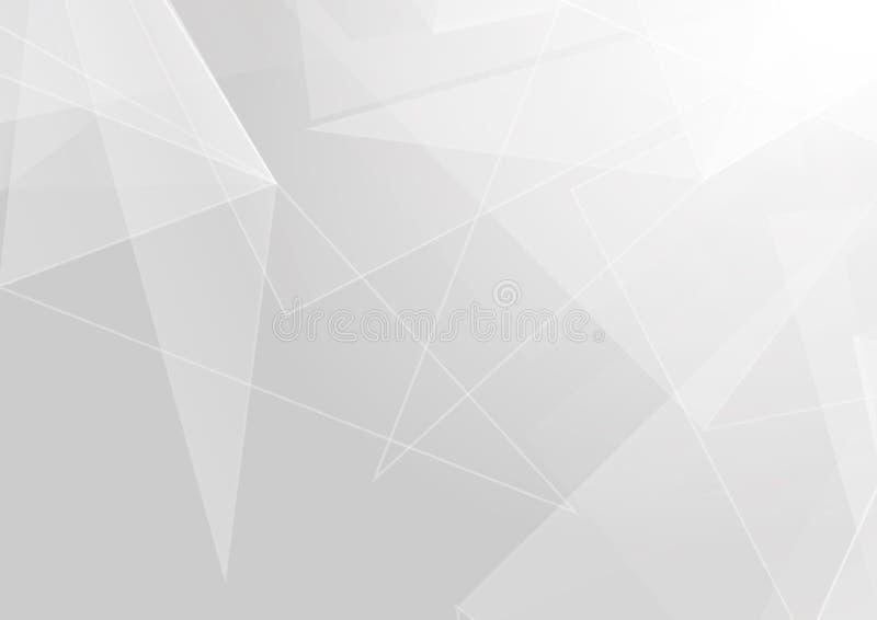 Projeto moderno do fundo da cor branca e cinzenta do polígono do sumário Projeto do vetor da ilustração ilustração do vetor