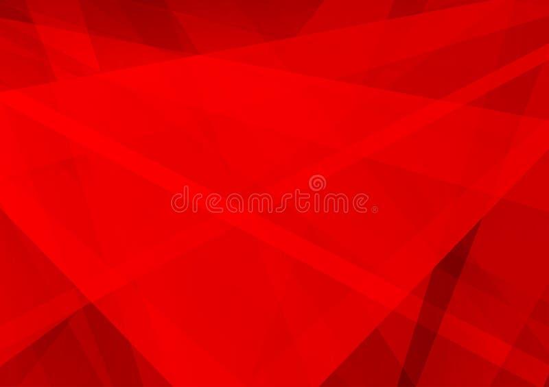 Projeto moderno do fundo geométrico do sumário da cor vermelha, ilustração do vetor ilustração stock