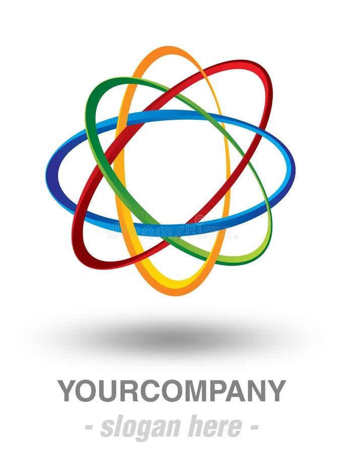 Projeto moderno do logotipo ilustração royalty free