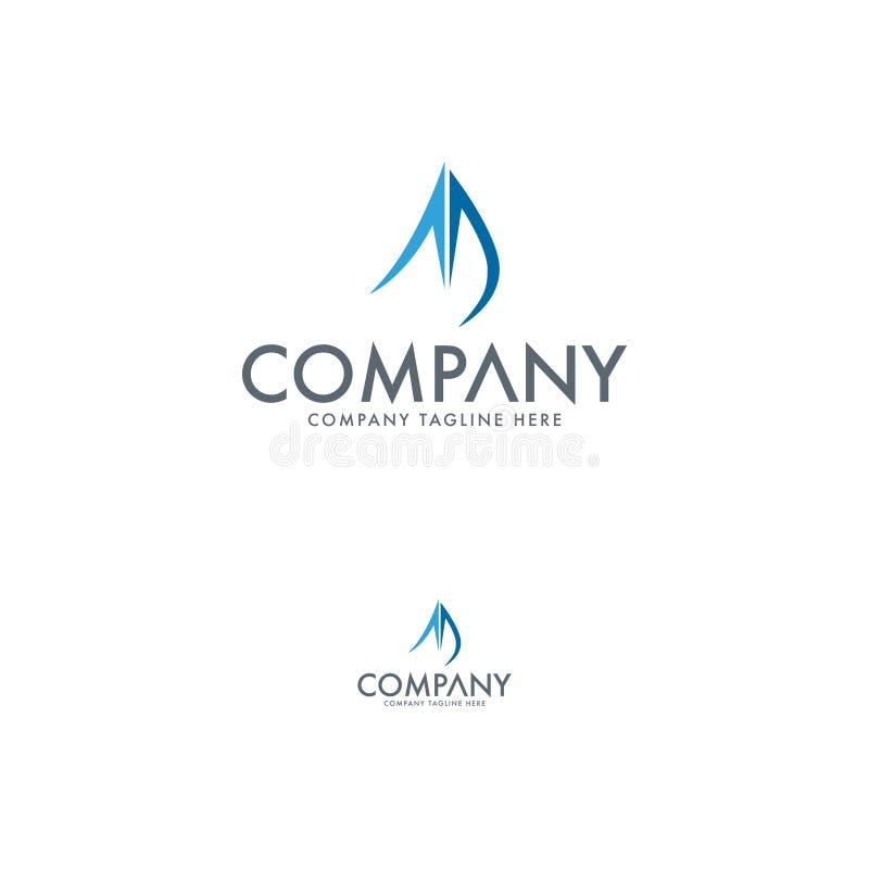 Projeto moderno do logotipo da vela ilustração stock