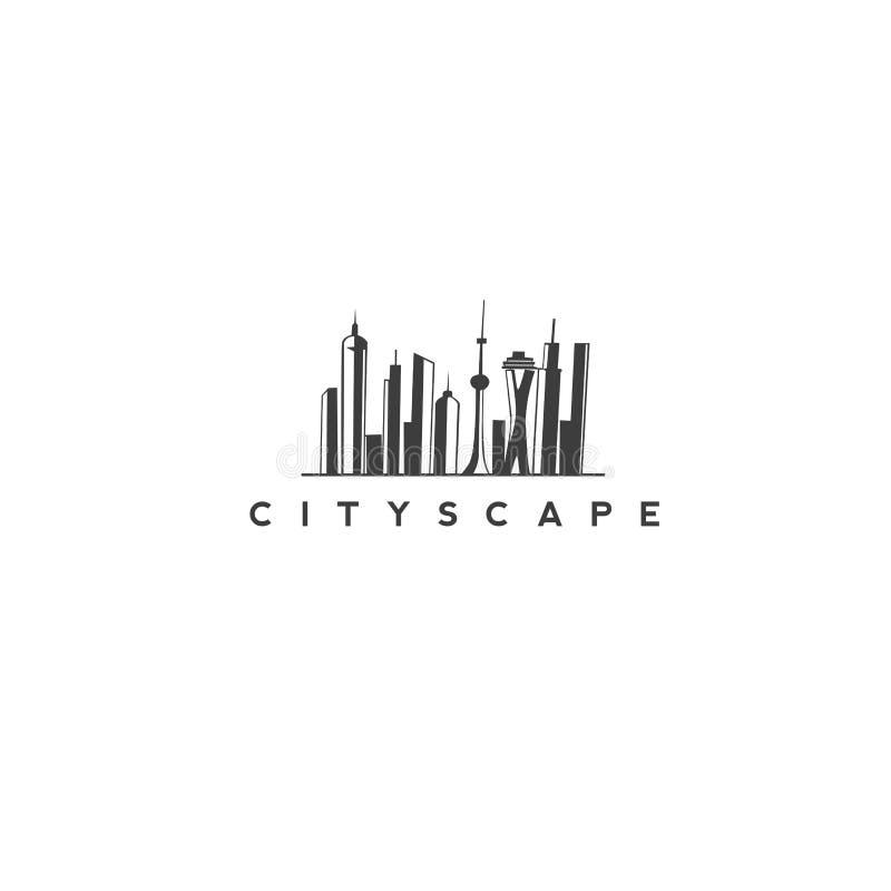 Projeto moderno do vetor da arquitetura da cidade ilustração stock