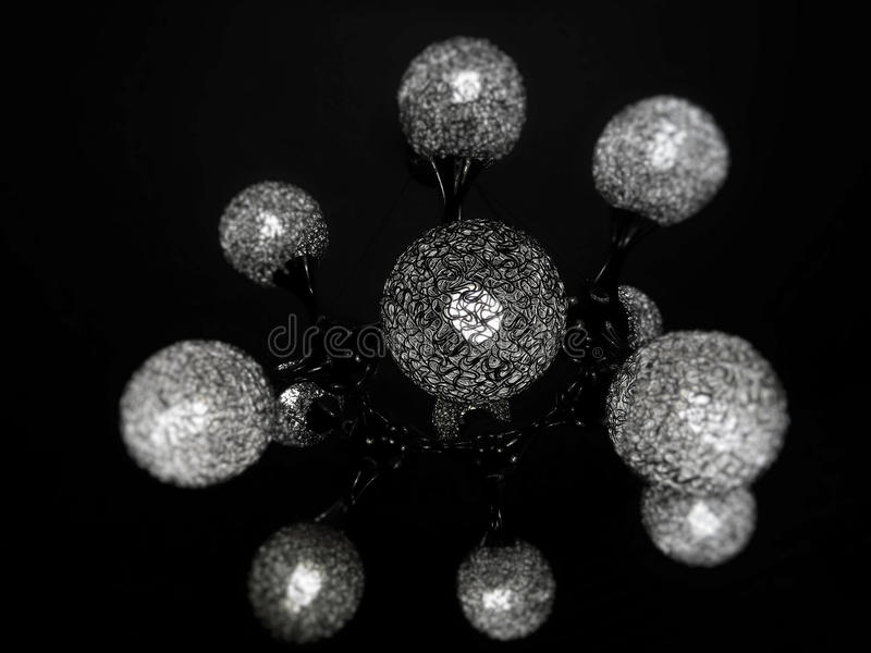 Projeto molecular com elementos redondos imagens de stock royalty free