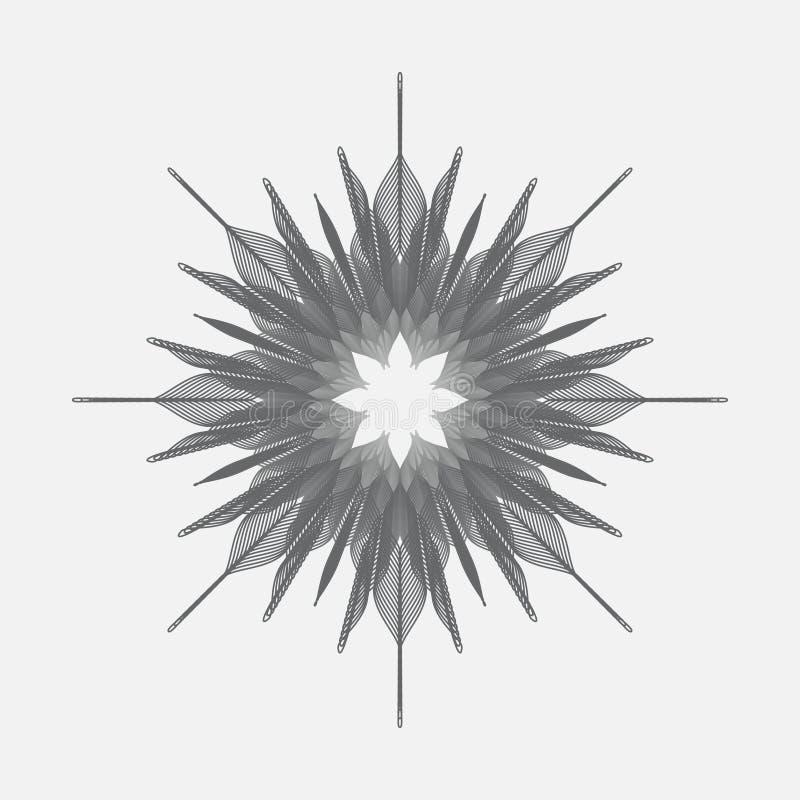 Projeto monocromático abstrato do vetor ilustração do vetor
