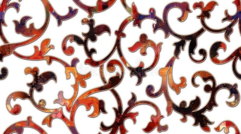 Projeto multicolorido da telha da parede de Digitas para o banheiro, teste padrão do azulejo; papel de parede, linóleo, matéria t ilustração royalty free
