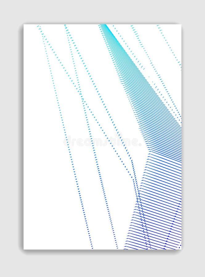 Projeto na moda minimalistic do folheto do vetor linear da arte, molde de tampa, inclinação de intervalo mínimo geométrico E ilustração do vetor