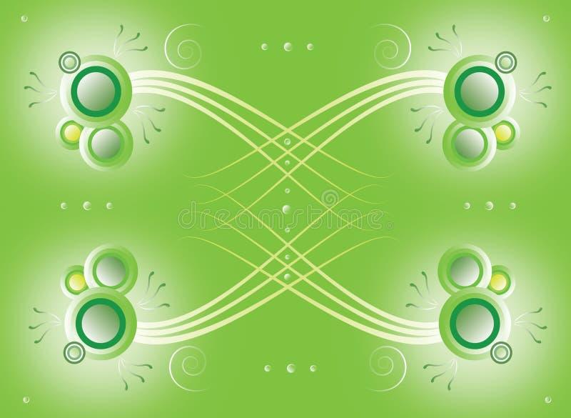 Projeto natural abstrato verde ilustração do vetor