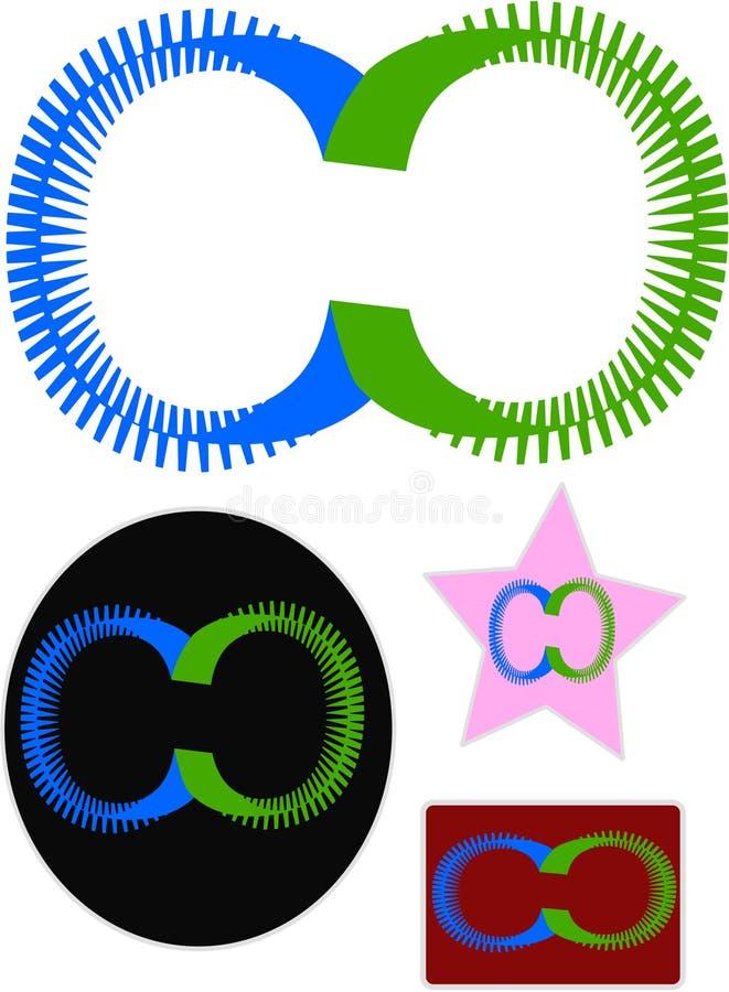 Projeto novo do logotipo do software ilustração stock