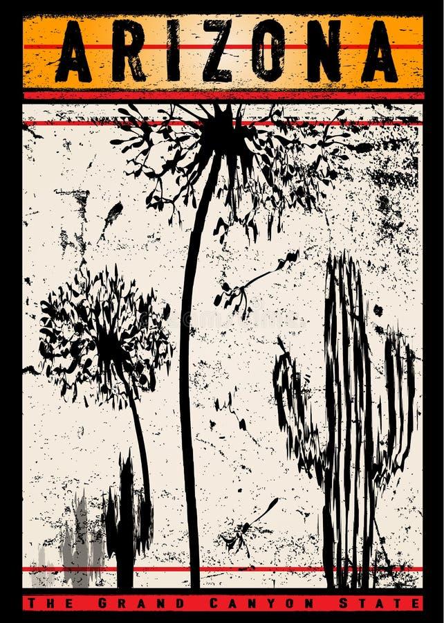 Projeto o Arizona da camisa de T ilustração do vetor