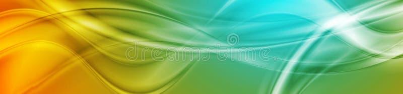 Projeto ondulado brilhante brilhante abstrato da bandeira ilustração royalty free