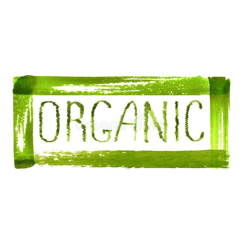 Projeto orgânico do logotipo do produto fotografia de stock