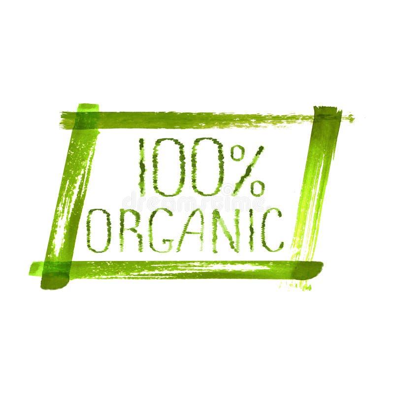 projeto orgânico do logotipo do produto 100 foto de stock royalty free