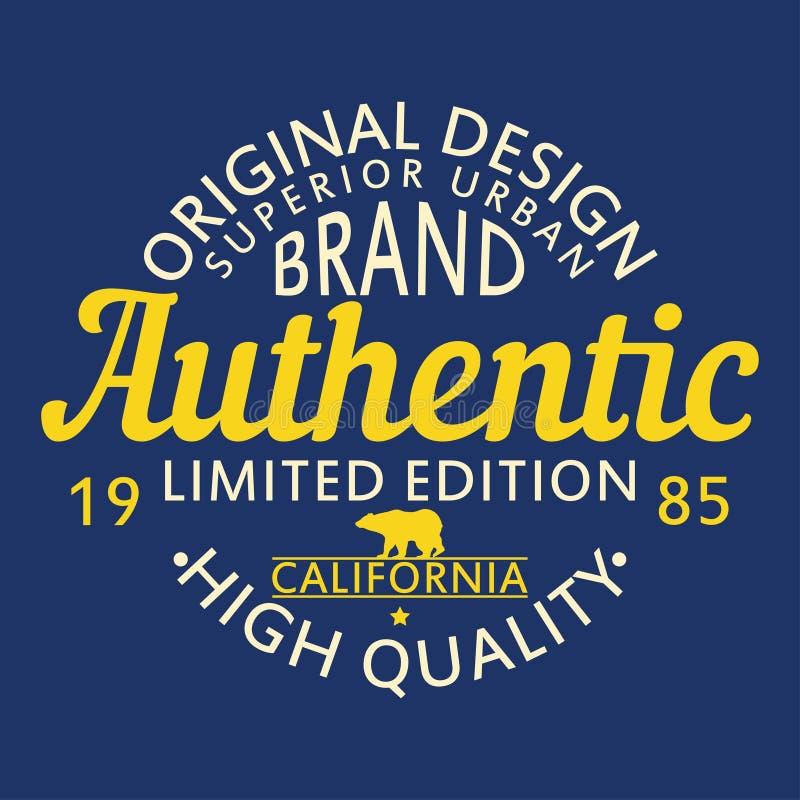 Projeto original autêntico para a roupa, gráfico urbano superior do tipo para o t-shirt Roupa original projeto, tipografia do fat ilustração royalty free