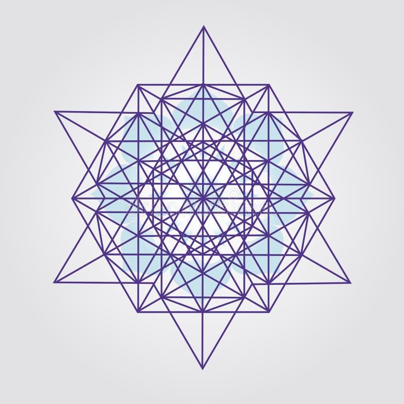 Projeto do tetraedro da estrela fotos de stock royalty free