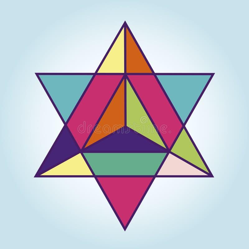 Estrela Tetrahedr ilustração do vetor