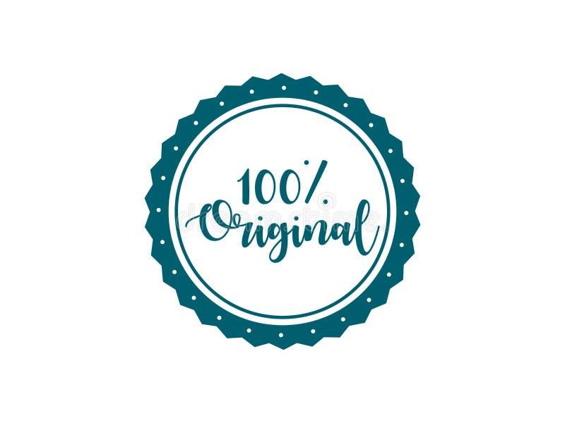 projeto original do vetor do selo de 100% ilustração stock
