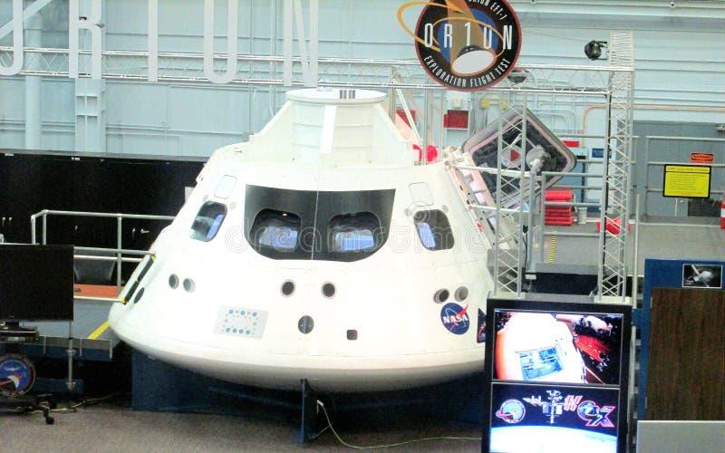 Projeto Orion Space Capsule Under Construction da NASA na construção do conjunto em Johnson Space Center em Houston, Texas fotografia de stock
