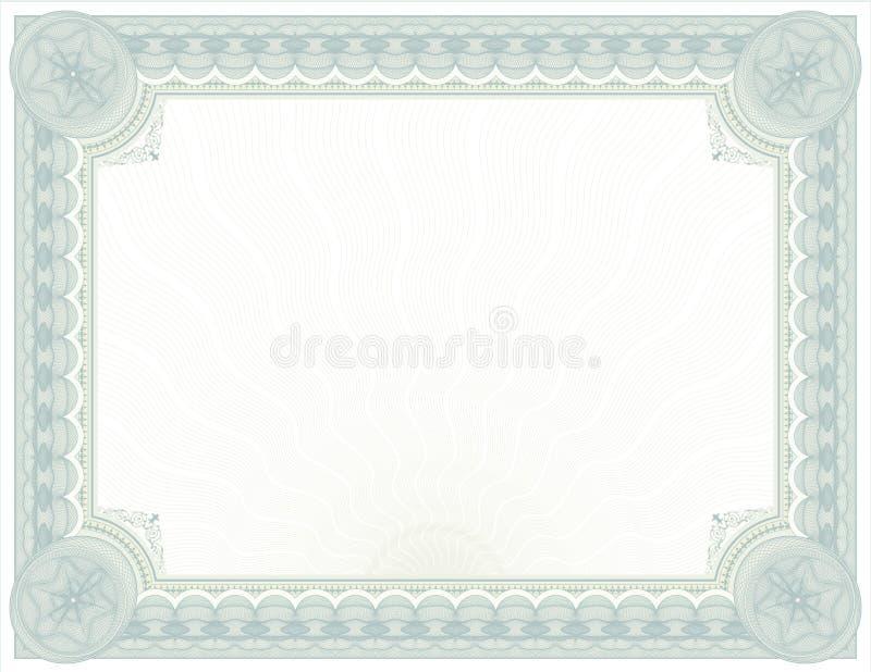 Projeto ornamentado do Certificado-diploma de Guilloché ilustração stock