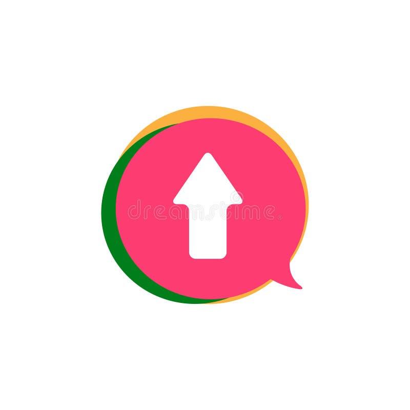 projeto ou ilustração social do logotipo do vetor dos multimédios da vídeo clip do bate-papo da bolha ilustração stock