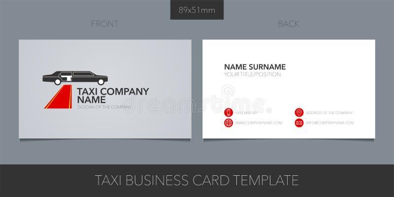 Projeto para o táxi do VIP, serviço da disposição do molde do vetor do cartão do táxi do limo ilustração do vetor