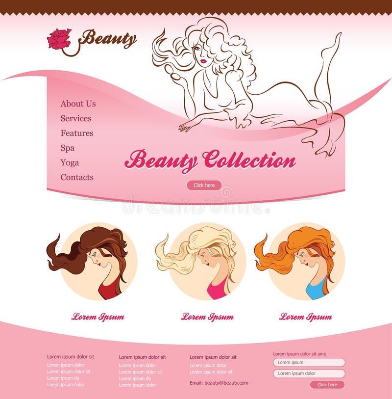 Projeto para a site da beleza ilustração stock