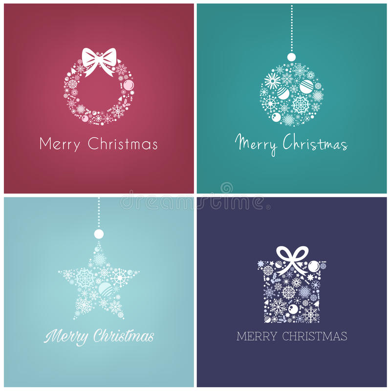 Projeto perfeito do Natal para o cartão de cumprimentos ilustração stock