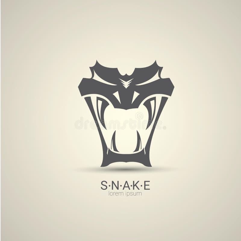 Projeto perigoso irritado do logotipo da serpente do vetor ilustração royalty free