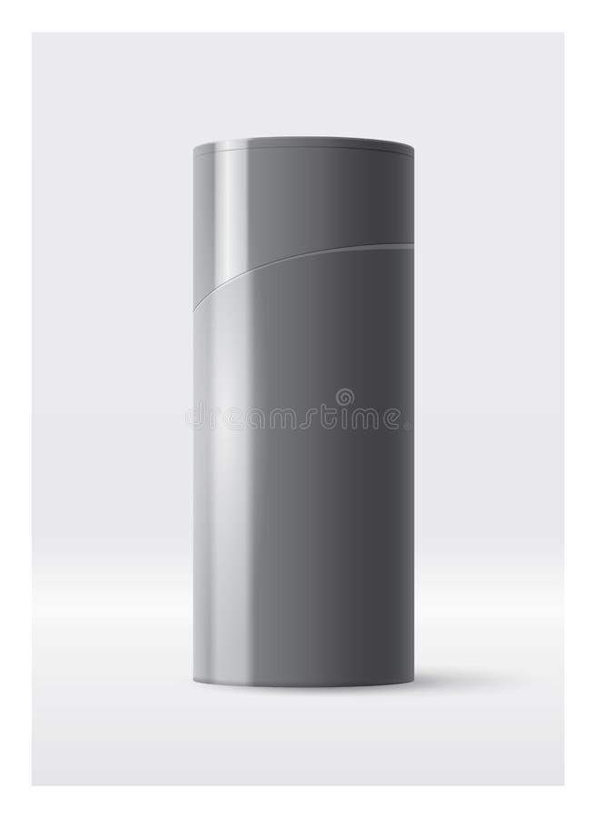 Projeto plástico do molde da garrafa da garrafa do champô ou do gel do chuveiro ilustração do vetor