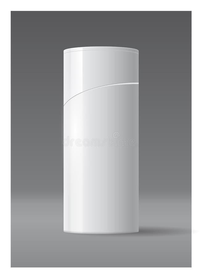Projeto plástico do molde da garrafa da garrafa do champô ou do gel do chuveiro ilustração stock