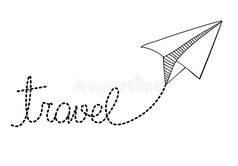 Projeto plano de papel ilustração royalty free