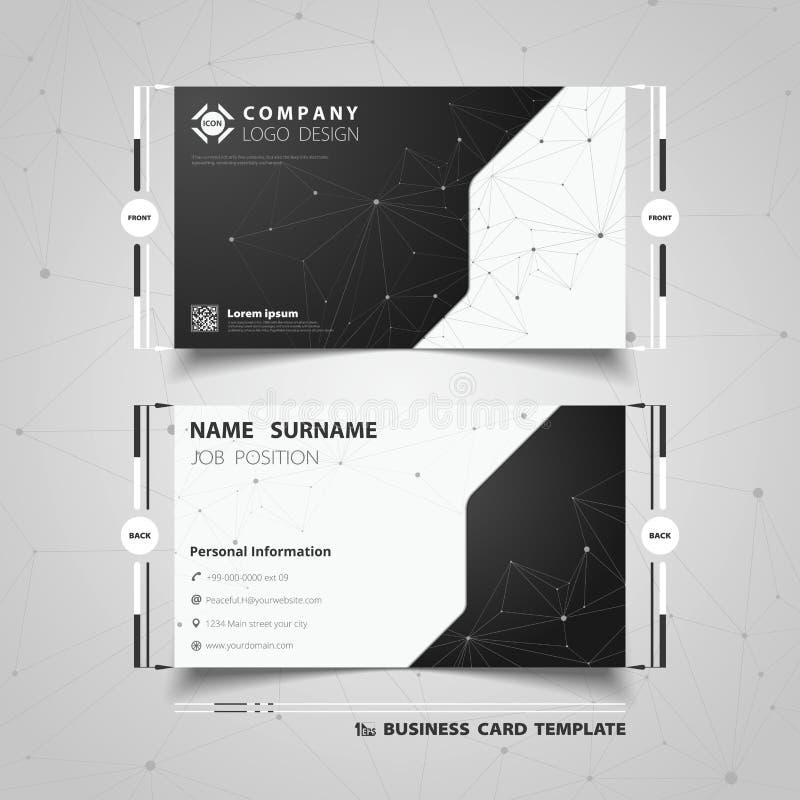 Projeto preto e branco abstrato do molde do cartão de nome da tecnologia Vetor eps10 da ilustra??o ilustração royalty free