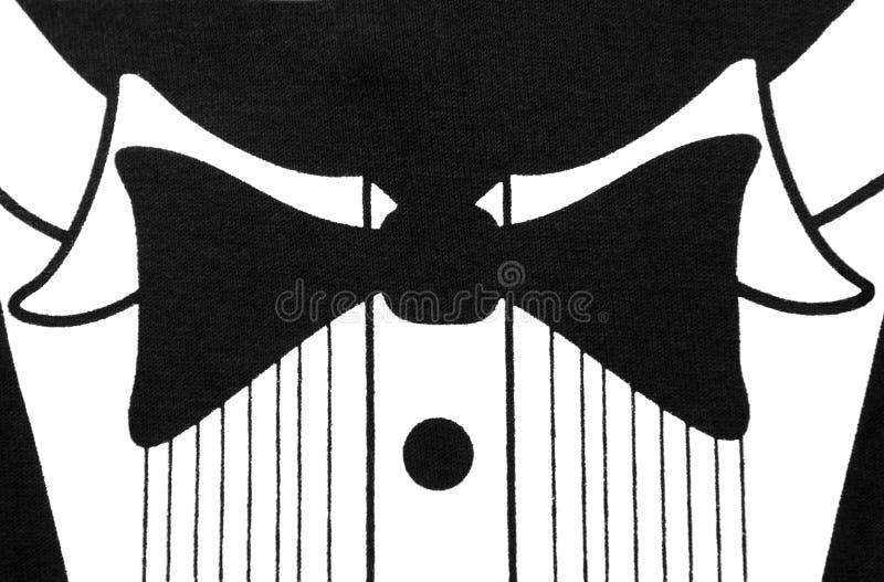 Projeto preto e branco da camisa do smoking ilustração stock