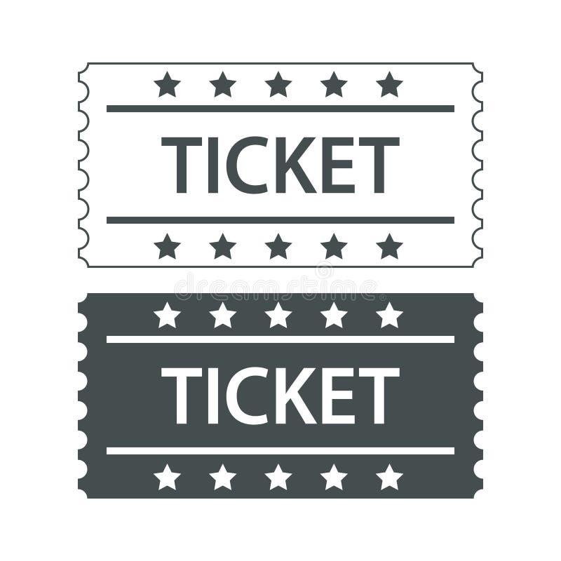 Projeto preto e branco de dois bilhetes do cinema, illustra conservado em estoque do vetor ilustração do vetor