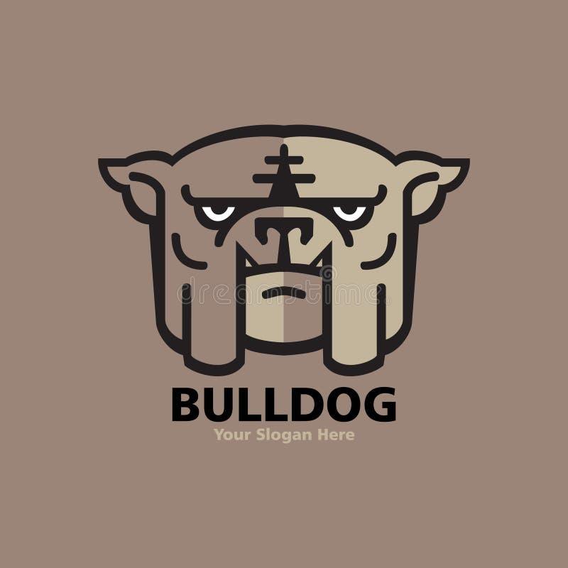 Projeto principal do logotipo do buldogue ilustração royalty free