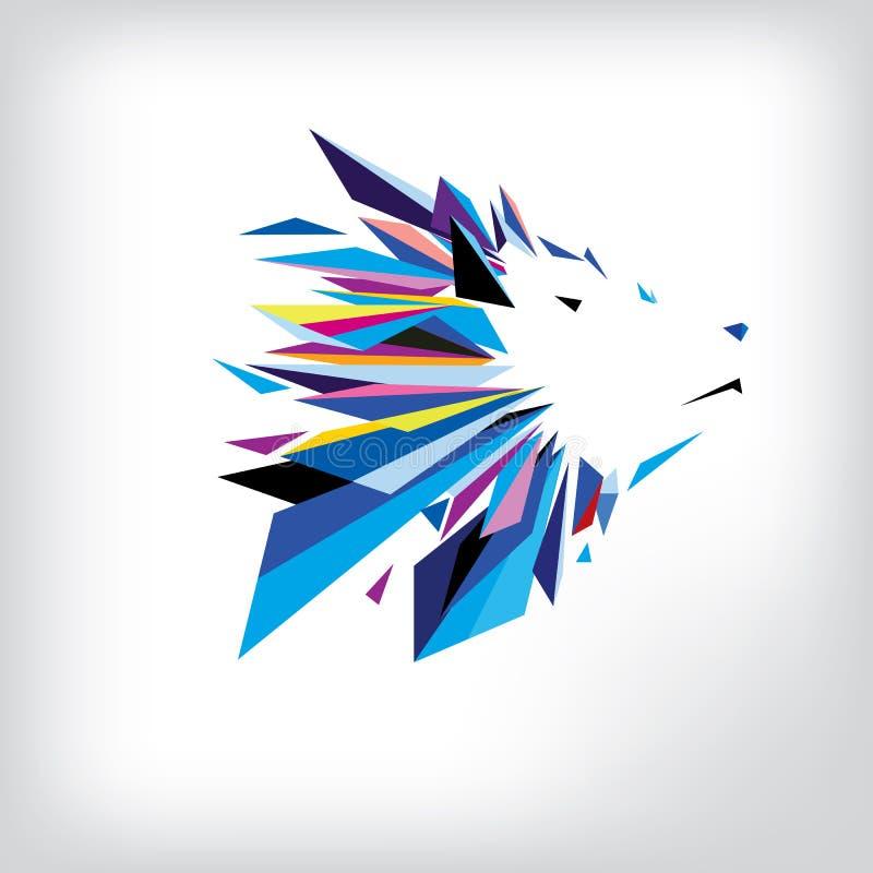 Projeto principal do logotipo do lobo ilustração do vetor