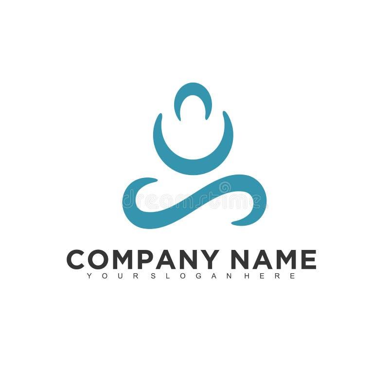 Projeto profissional moderno minimalistic simples do logotipo ilustração stock