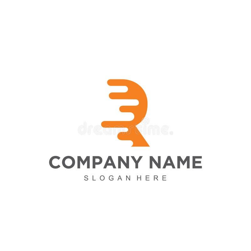 Projeto profissional moderno minimalistic simples do logotipo do molde do ilustrador do EPS do vetor de R ilustração royalty free