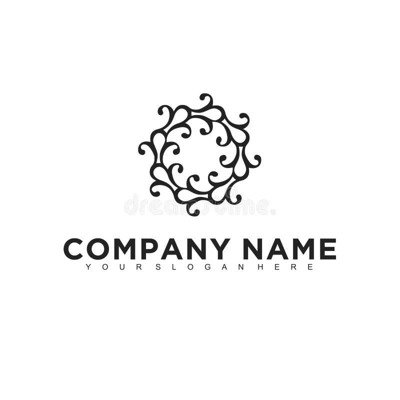 Projeto profissional moderno minimalistic simples do logotipo do molde médico do ilustrador do EPS do vetor da natureza ilustração stock