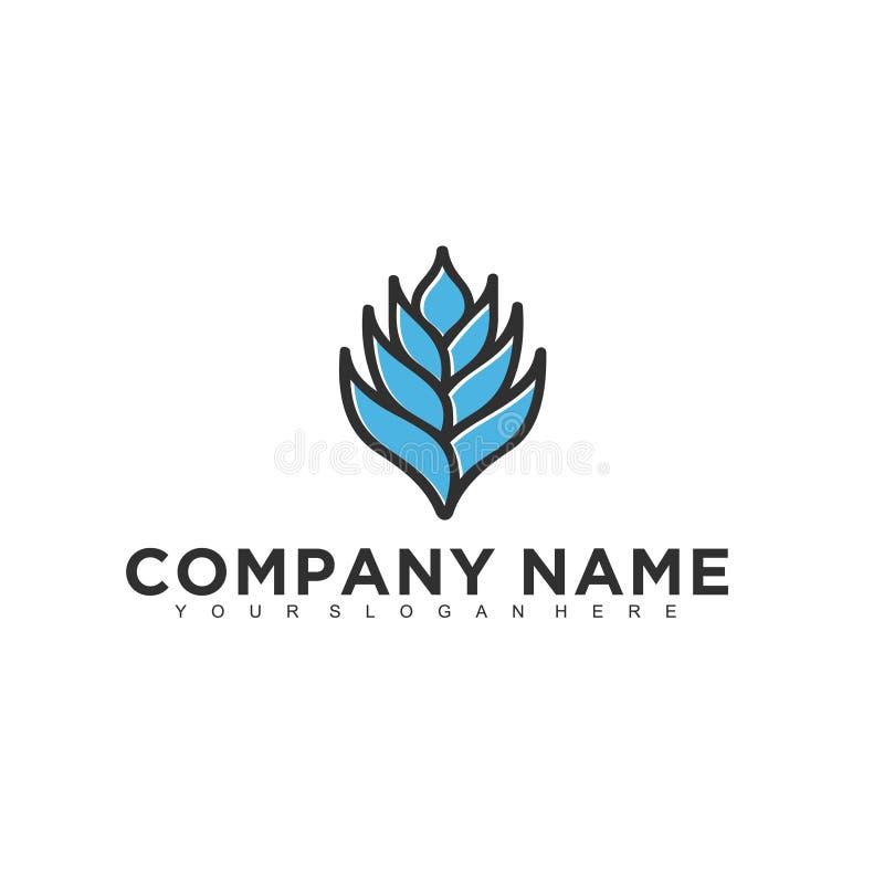 Projeto profissional moderno minimalistic simples do logotipo do molde médico do ilustrador do EPS do vetor da natureza ilustração royalty free