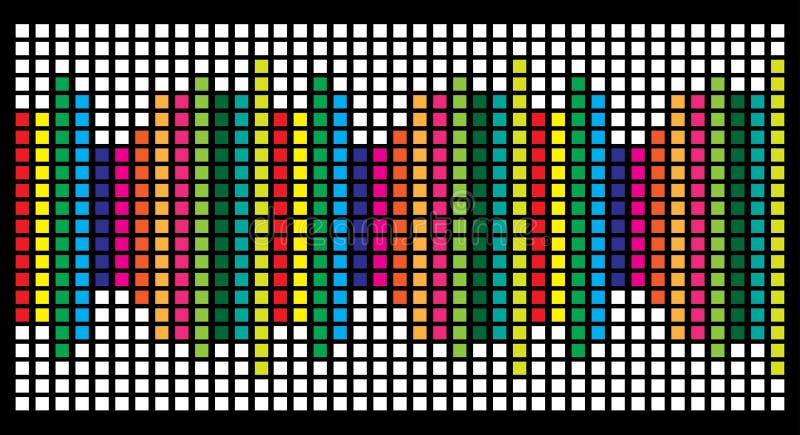 Projeto quadrado do equalizador da carta do diagrama isolado no backgrou preto ilustração do vetor