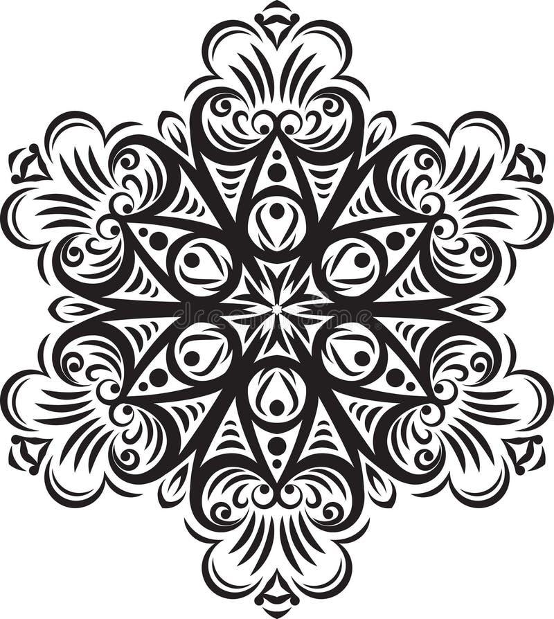 Projeto redondo do laço do vetor abstrato - mandala, elemento decorativo ilustração do vetor